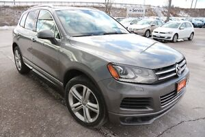 2014 Volkswagen Touareg Highline R-line, grey with brown leather
