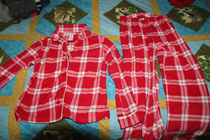Girls size 10-12 Pajamas Red / White plaid (Joe Fresh)