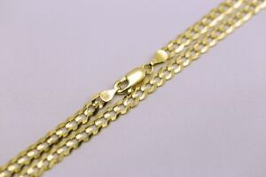 """14k Solid Gold Cuban Link Chain Necklace 24"""""""