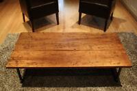 reclaimed 100 year old barnwood coffee table