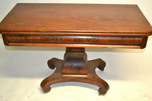 Table d'acajou mahogany flammé 1880 pliante