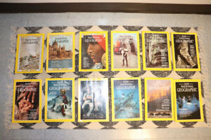 Assorted National Geographic magazines (60s-90s)