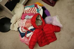 Assorted baby girl clothes and shoes (6-12 Months)
