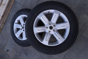 2 Brand New Goodyear Tires on Alloy Rims for Sale 235 65 R18