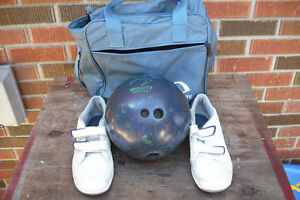 10 PIN BOWLING BALL/ SHOES/BAG