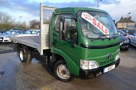 2010 Toyota Dyna 350 Chassis Cab D 4D 136hp Flat Back Lorry 2 door Pick Up