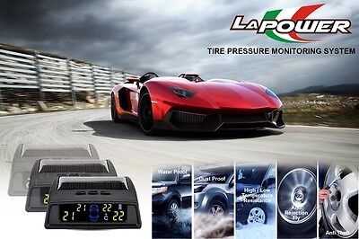 Tire Pressure Monitoring System TPMS Solar Display - 4 internal wireless sensors