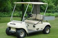 Looking for a used gas powered golf cart