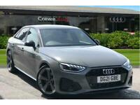 2021 Audi A4 Black Edition 35 TFSI 150 PS S tronic Auto Saloon Petrol Automatic
