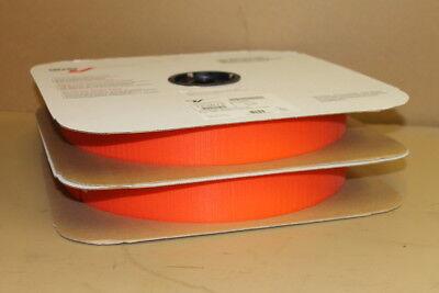 """Velcro hook, 2"""" wide x 100 yds, Orange, Sew on, 153675, Lot of two 50yd rolls"""