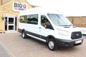 2015 FORD TRANSIT 460 TDCI 125 L4 H3 17 SEAT BUS HIGH ROOF DRW RWD MINIBUS DIESE