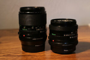 Canon FD 50mm 1.8 + 100mm 2.8