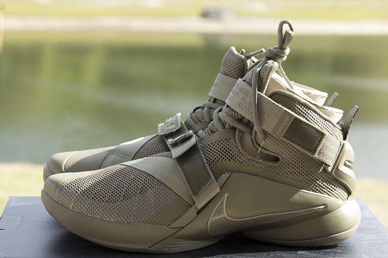 b395e26e906 UPC 886668167640 product image for Nike Men s Size 13 Lebron Soldier Ix Prm  Olive medium
