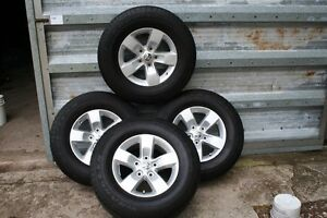 2015 DODGE ALLOY RIMS WITH 265/70/17 GOODYEAR Regina Regina Area image 1
