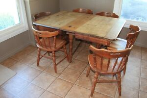 Kitchen table (Maple) and four chairs