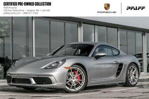2018 Porsche 718 Cayman S - FULLY LOADED, CPO, Clean CARFAX!