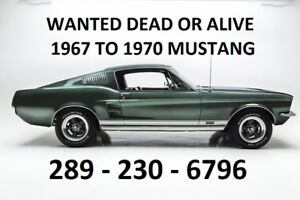 1965 1966 1967 1968 1969 1970 FORD MUSTANG DEAD OR ALIVE CA$H