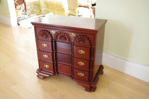 Chippendale Handcarved Mahogany Bureau Dresser Chest