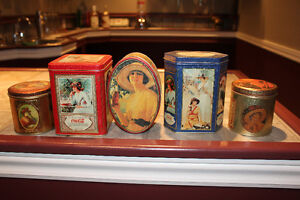 Group of 5 different Coca-Cola tins
