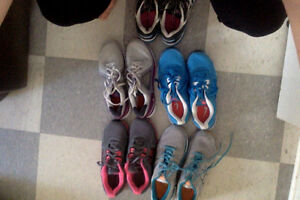 5 Pairs of Gently Worn Women's Running Shoes - Nike or Asics!