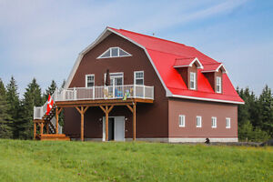Courcelles en Estrie,Magnifique maison-écurie construite en 2016