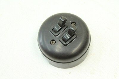 Old Series Switch Bakelite Switch Series Exposed round Art Deco Light Switch