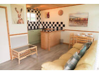 CHALET 2 BED HOLIDAY HOME LEASE FOR SALE (not static caravan) WEST WALES CEREDIGION