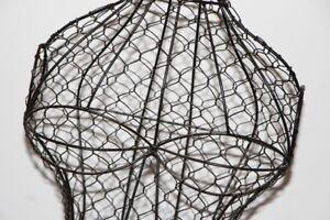 "50"" VINTAGE Metal TALL Wire Frame Dress Form MANNEQUIN Display"