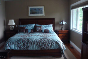 King Size,10 piece Comforter Set in Teal & Brown