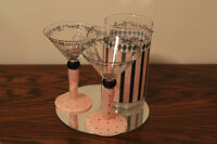 4 Pc Martini Glass Set