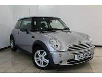2005 05 MINI HATCH ONE 1.6 ONE 3DR 89 BHP