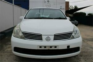 2008 Nissan Tiida C11 MY07 ST-L Plus White 4 Speed Automatic Sedan Five Dock Canada Bay Area Preview