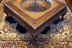 Brilliant Large Gothic Styled Ornate Coffee Table SEE VIDEO