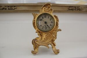 NEW PRICE Antique Rococo Ormolu Clock-over 100 years old!