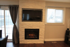 Custom Fireplace Build With TV Mounting Just In Time For Winter!