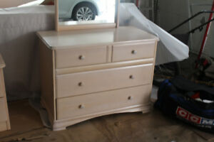 Wood Dresser & Nightstand