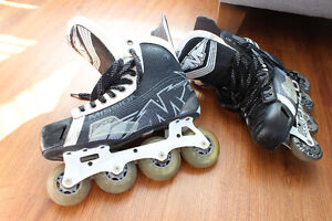 Men's Hockey Rollerblades Black & Grey Size 10.5