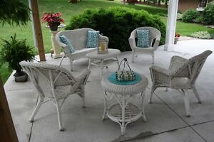 Wicker Chairs, Tables, Loveseat