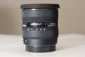 Sigma 10-20mm 1:4-5.6 EX DC HSM wide angle zoom fits Canon