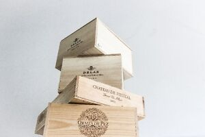 Wedding Table Centre Pieces - Re-purposed French Wine Crates