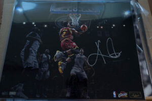 NBA Kyrie Irving signed 16x20 COA Cleveland Cavs  Boston Celtics