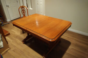 Antique Solid Wood Dining Room Table