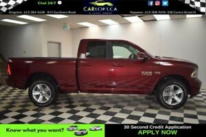 2017 RAM 1500 SPORT QUAD 4X4 - LEATHER**U-CONNECT**LOW KMS