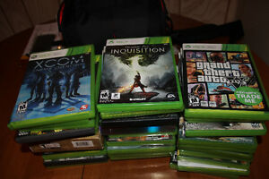 15 Xbox 360 used games.