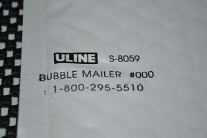 300 Bubble Mailers Envelopes U-Line #000