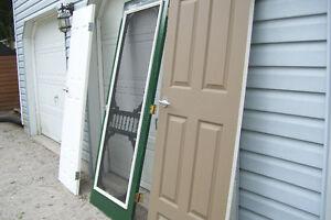 THREE SOLID WOOD DOORS TWO INTERIOR ONE FANCY SCREEN DOOR London Ontario image 5