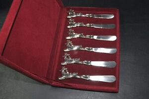 6 Christmas Reindeer cheese butterspreader knives Rudolph & More