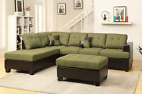 NEW Blended Linen Sectional Sofa, Free Delivery!
