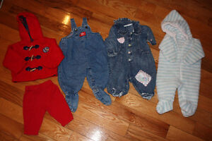 Size 3-6 month baby girl winter clothes Lot 2