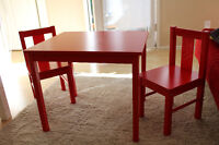 Kid's Red Table Set